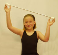 Majorette batons for a better performance