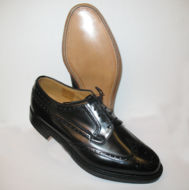 Braemar black shoes by Loake