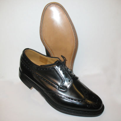 leather upper and sole Loake brogue mans shoe