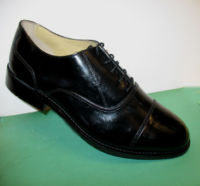 Men's oxford style leather wide fit town shoe