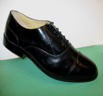 Oxford style leather wide fit work town shoe