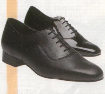 Men's dance shoes black leather or patent