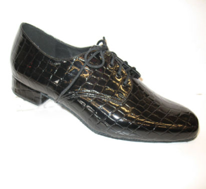 mens dance shoes with black crock print upper