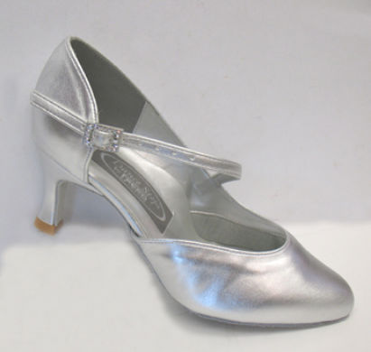 Freed silver upper ballroom ladies dance shoes