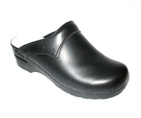 clogs with firm flexi comfort sole.