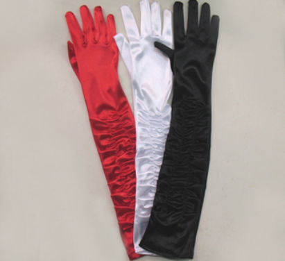 gloves classic long black white or red