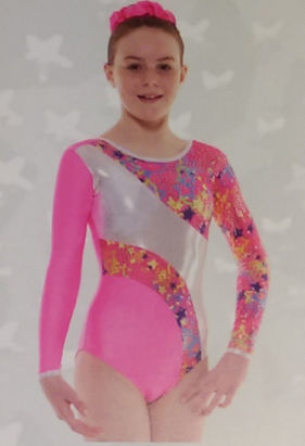 Gymnastic leotard soft pink