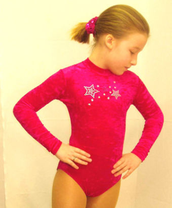 gymnastic leotard royal blue or raspberry