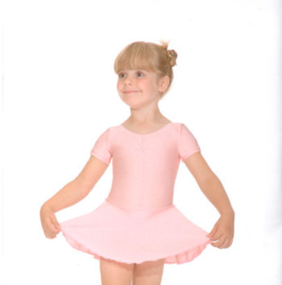 pink leotard wth skirt attached