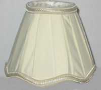 traditional wall light shades ivory lined fabric
