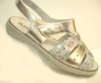 Kelly silver sandal comfort fitting