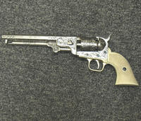 replica colt navy style silver antique look finish
