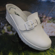 ladies step in mule white by Rohde