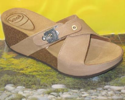 Dr Scholl elon style sheen leather upper sandal