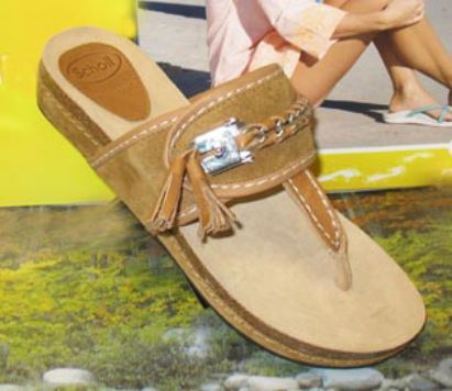 scholl lakeba sandal tan upper