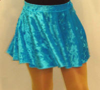 Skirt velour blue red amethist