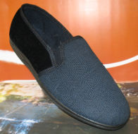 navy blue slippers men's fitting size 15