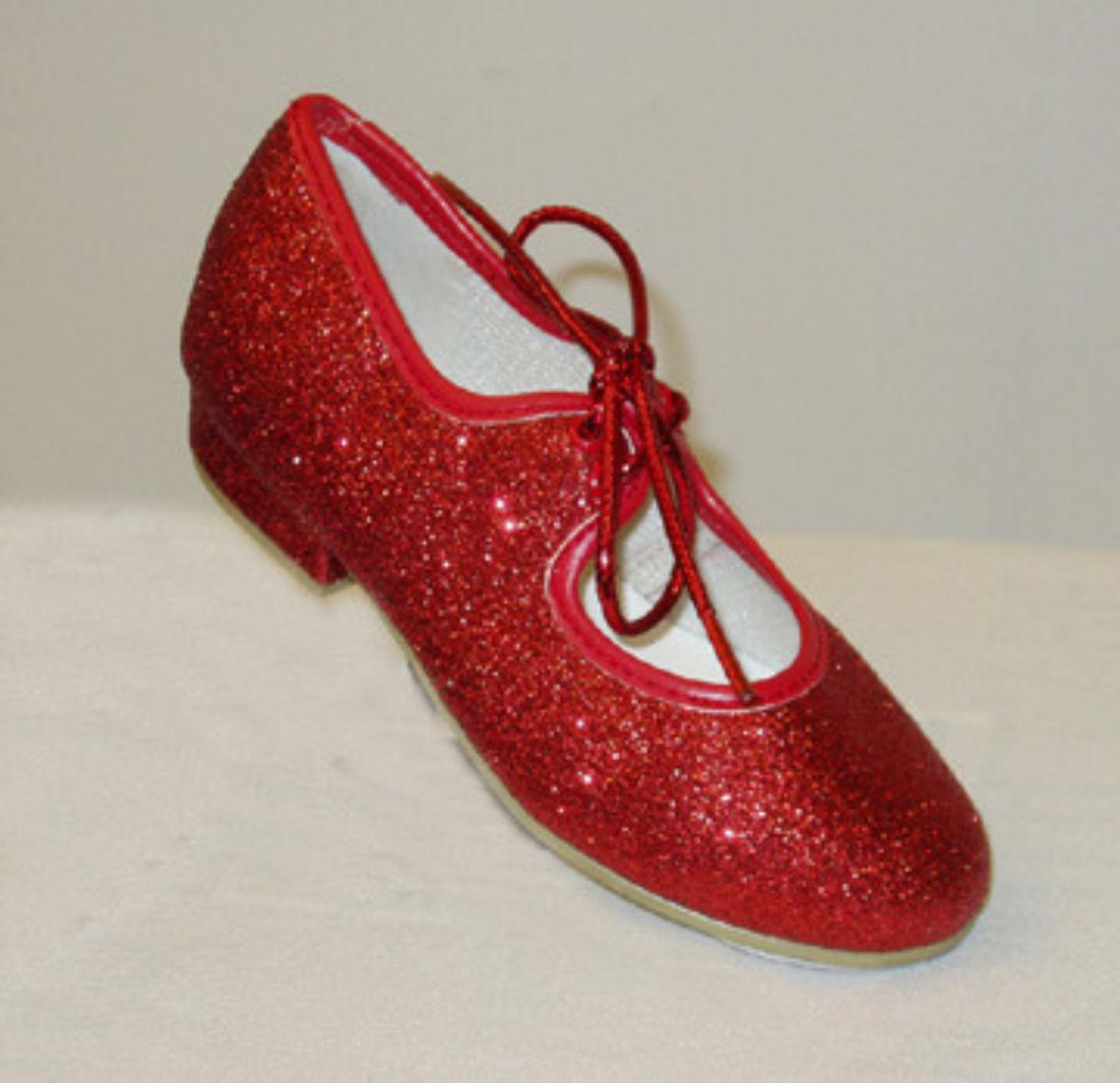 Sparkle tap shoes,