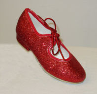 tap dance shoes red or silver glitter