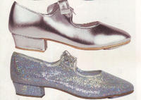 Tap dance shoes silver silver glitter hologram